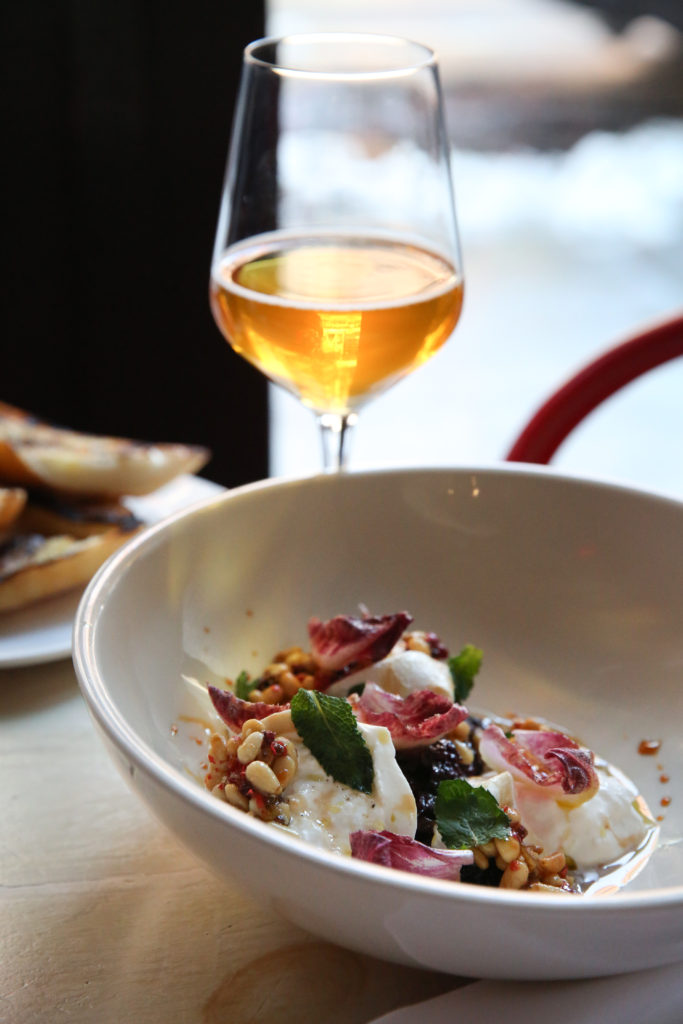 burrata cheese salad radicchio pine nuts pears murray's recipe