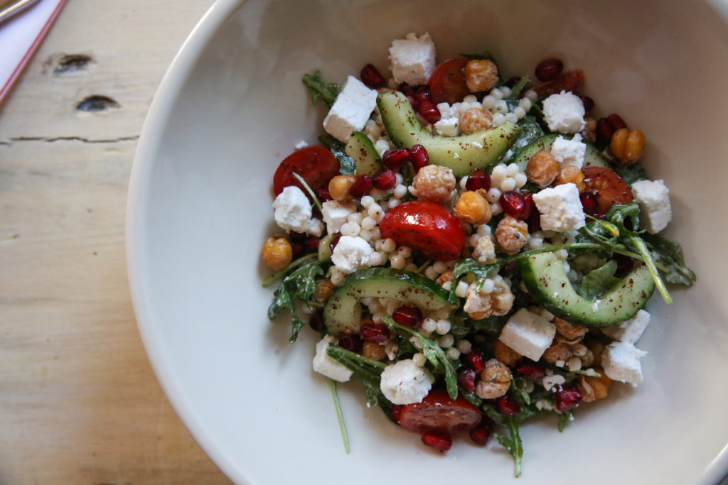 Recipe: Mediterranean Chickpea and Couscous Bowl with Yogurt Dressing