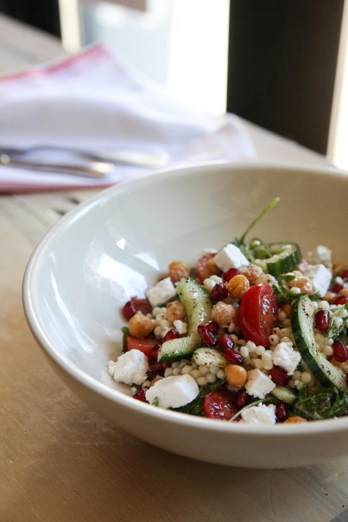 Mediterranean chickpea couscous salad yogurt dressing recipe