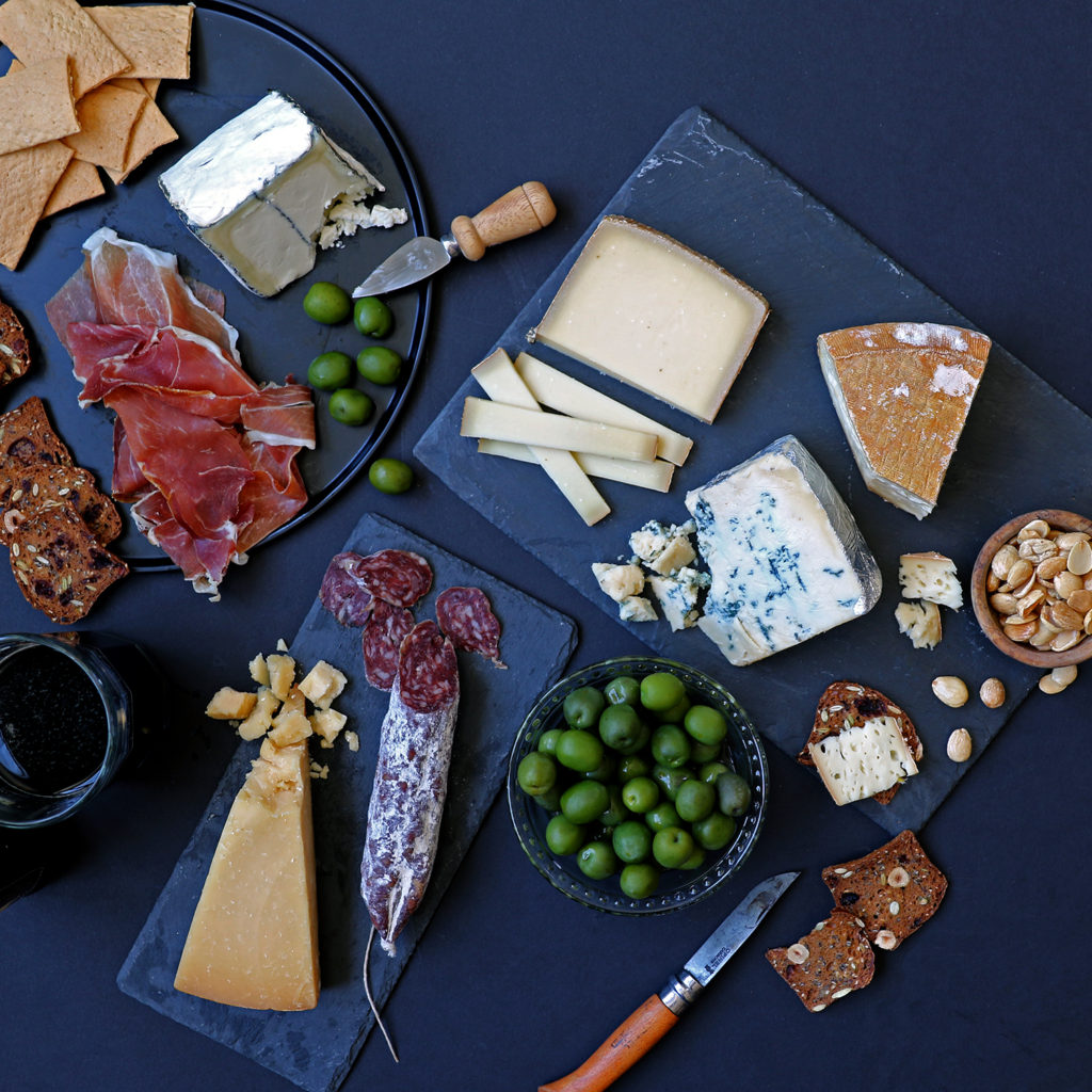 game day sports cheese and meat platter spread board