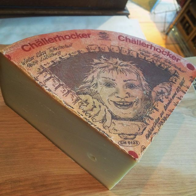 challerhocker alpine cheese boy label